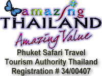 Phuket Safari Travel is Reg. w/Tourism Authority Thailand